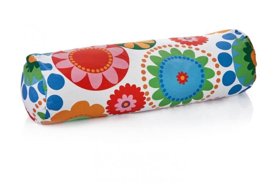 Blazina za jogo, bolster polnjena s pirinimi ali ajdovimi luščinami in cvetovi sivke.